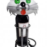 Green-Eyed Cat Wine Caddy