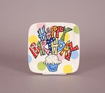 Square Happy Birthday Individual Serving Plate