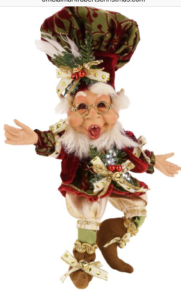 Christmas Collectibles by Mark Roberts include his trademark elves and fairies.