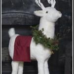 White Reindeer Footrest